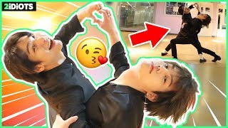 Gambar cover [ENG] *K-POP IDOL'S COUPLE DANCE CHALLENGE?!* 2idiots try romantic waltz dance for the first time!😘