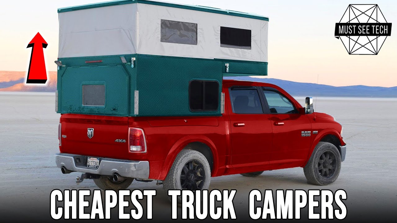 9 Pop Top Truck Campers With The Lightest Weight And Lowest Price Youtube