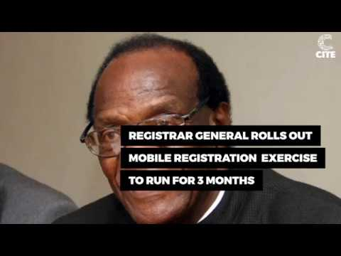 Registrar General's Office has rolled out a Mobile Registration exercise