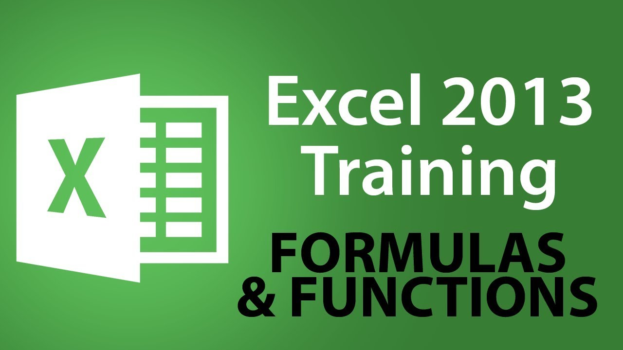 Microsoft Excel 2013 Training -- Date And Time Function