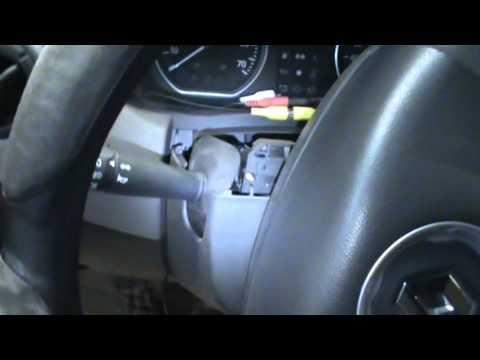 Рено Логан Ремонт кнопки сигнала на под рулевом переключателе
