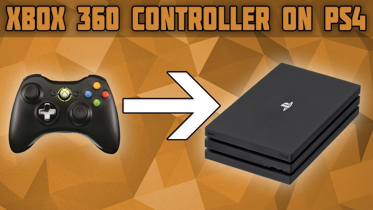 How To Use An Xbox 360 Controller On Ps4 Connect And Xbox 360 Controller On Ps4 Xbox Controller Ps Youtube