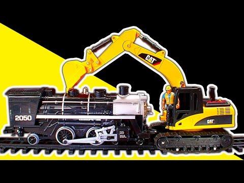 Steam Trains Vs Excavator Digger Dump Truck Diesels