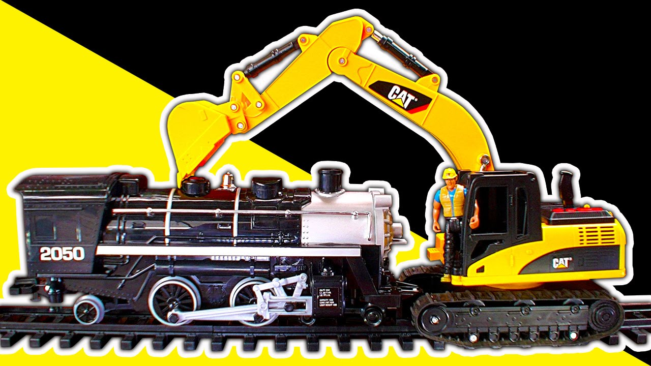 Steam Trains Vs Excavator Digger Dump Truck Diesels - YouTube