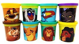 The Lion King Characters Play-Doh Can Heads & Toys Timon Pumbaa Zazu Shenzi Rafiki Simba Mufasa Scar