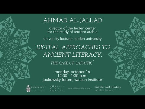 Digital Approaches to Ancient Literacy: The Case of Safaitic