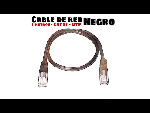 Video de Cable de red UTP CAT5E 2 M Negro