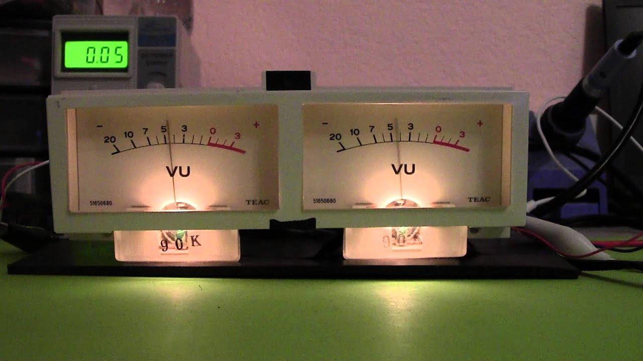 Testing 2 Analog Vu Meters Youtube