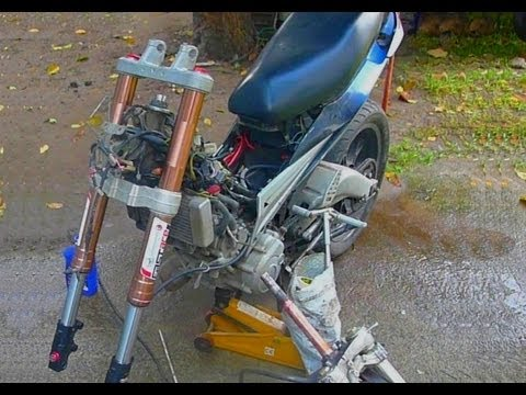 Thumbnail: Full Upside Down Fork Conversion for cub underbone moped fastace suspension