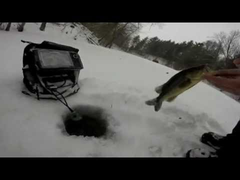 cole's largie through the ice - youtube, Fish Finder