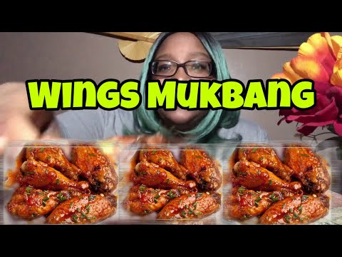 Spicy Honey Mustard Fried Chicken Wings Mukbang | Loaded Cheese and Bacon Fries
