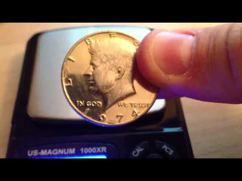 Plated Kennedy Half Dollar
