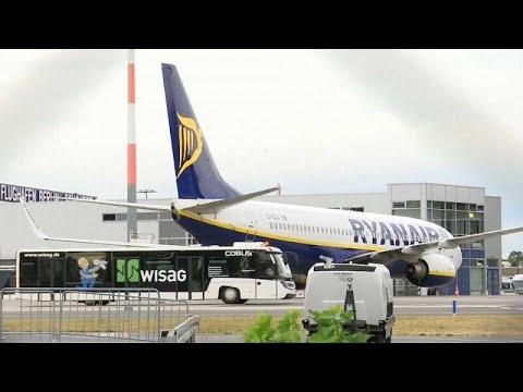 Centenas de voos da Ryanair cancelados na Alemanha