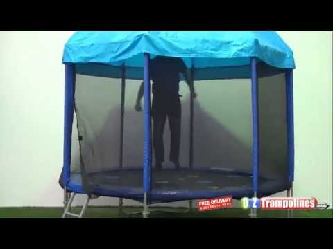 Tr&oline Roof Doubles As A Sun Shade & Trampoline Roof Doubles As A Sun Shade - YouTube