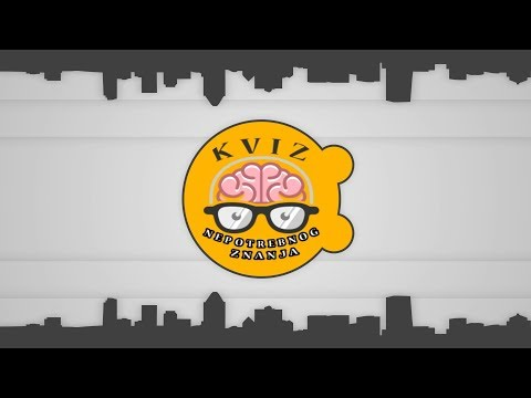 Kviz 'Nepotrebno Znanje' - 1.emisija (Ami G Show S12)