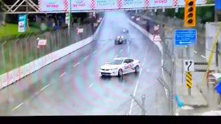 Indycar:Toronto Race 1.  pace car go off the track  during a yellow flag
