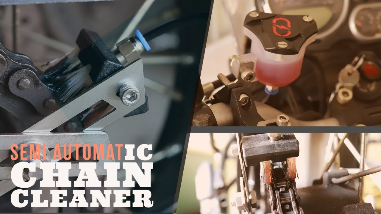 Semi Automatic Chain Cleaner for Royal Enfield Himalayan ||Chargedex