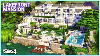 LUXURY LAKEFRONT MANSION 🌊 [No CC] - Sims 4 Speed Build   Kate Emerald