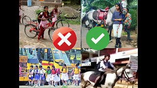 indian Girl student rides horse to reach school in Thrissur | LIKE A BOSS
