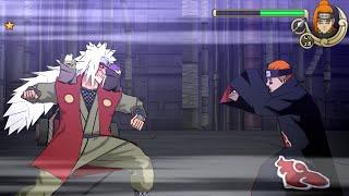 Naruto Shippuden Ultimate Ninja Impact Walkthrough Part 32 Sage Mode Jiraiya vs Pain (60 FPS)