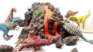 DIV Volcano With Schleich Dinosaur Playset! Jurassic World 2 Fallen Kingdom 2 Dinosaur Toys~