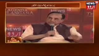 CNN-News18 Channel Bhupendra Chaubey's Excellent Interview With Dr.Subramanian Swamy In Hyderabad .