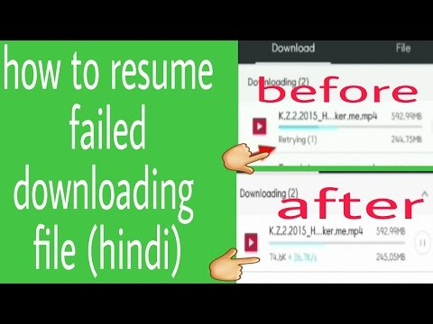 how to resume downloading file after expire link in uc browser android (hindi)