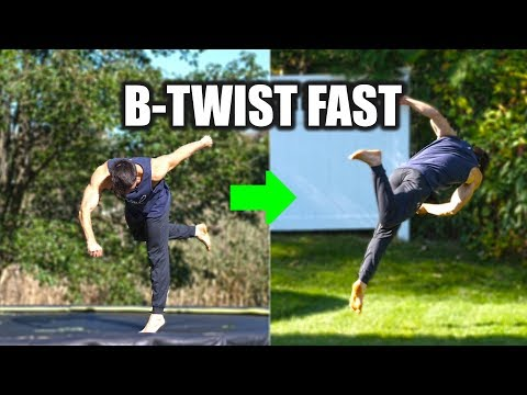 Learn How to B-Twist on the Trampoline and Then The Ground