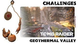 RISE OF THE TOMB RAIDER 100% Walkthrough - Geothermal Valley: Challenges