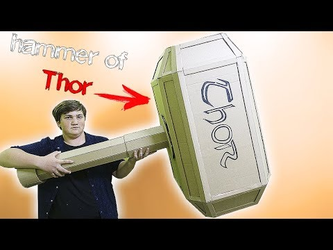 HOW TO MAKE THOR HAMMER MJOLNIR FROM CARDBOARD