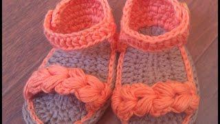 Sandalias de verano para bebé a Crochet - Parte 1