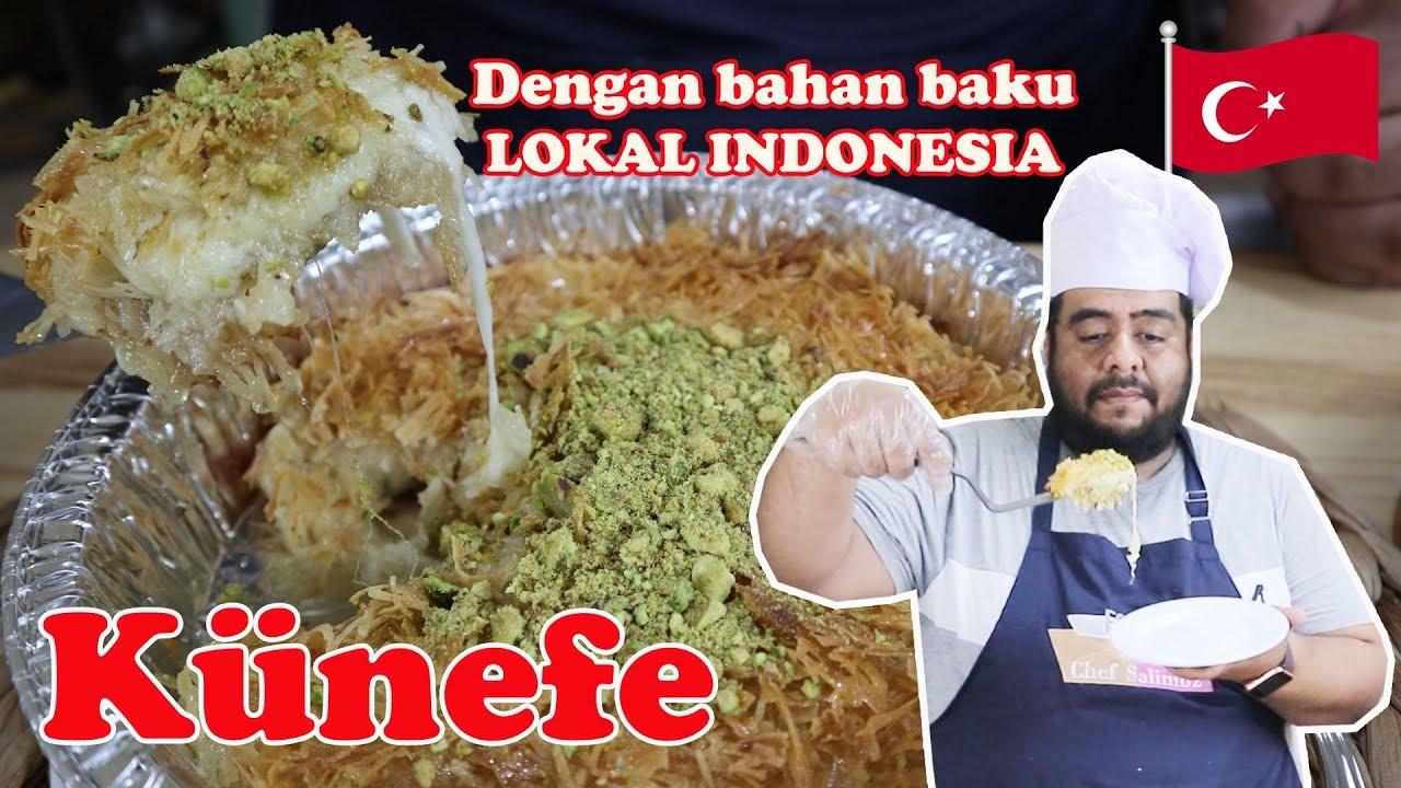 Tonton Sampai Habis Cara Membuat Kunefe Dengan Bahan Lokal Indonesia How To Make Kunefe Youtube
