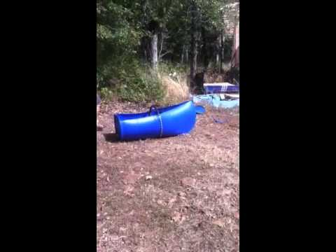 55 Gallon Barrel Canoe Youtube