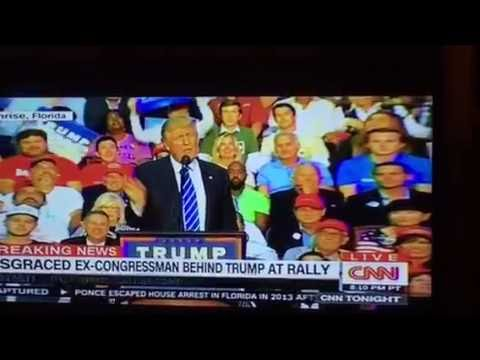 Donald Trump Has Mark Foley, Alleged Pedophile Behind Him At A Rally While Trump Blasts Clinton For