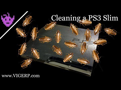 Cleaning the nastiest PS3 Slim I have ever seen.