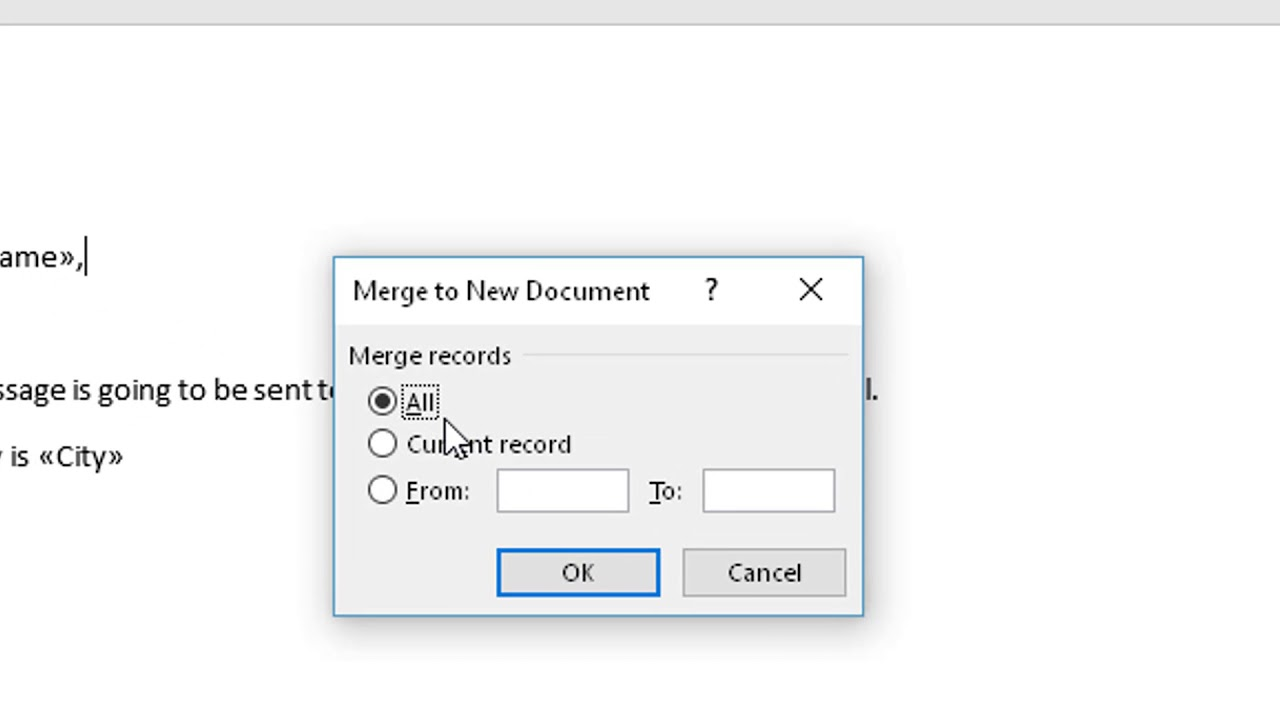 Outlook Mail Merge with Excel and Word