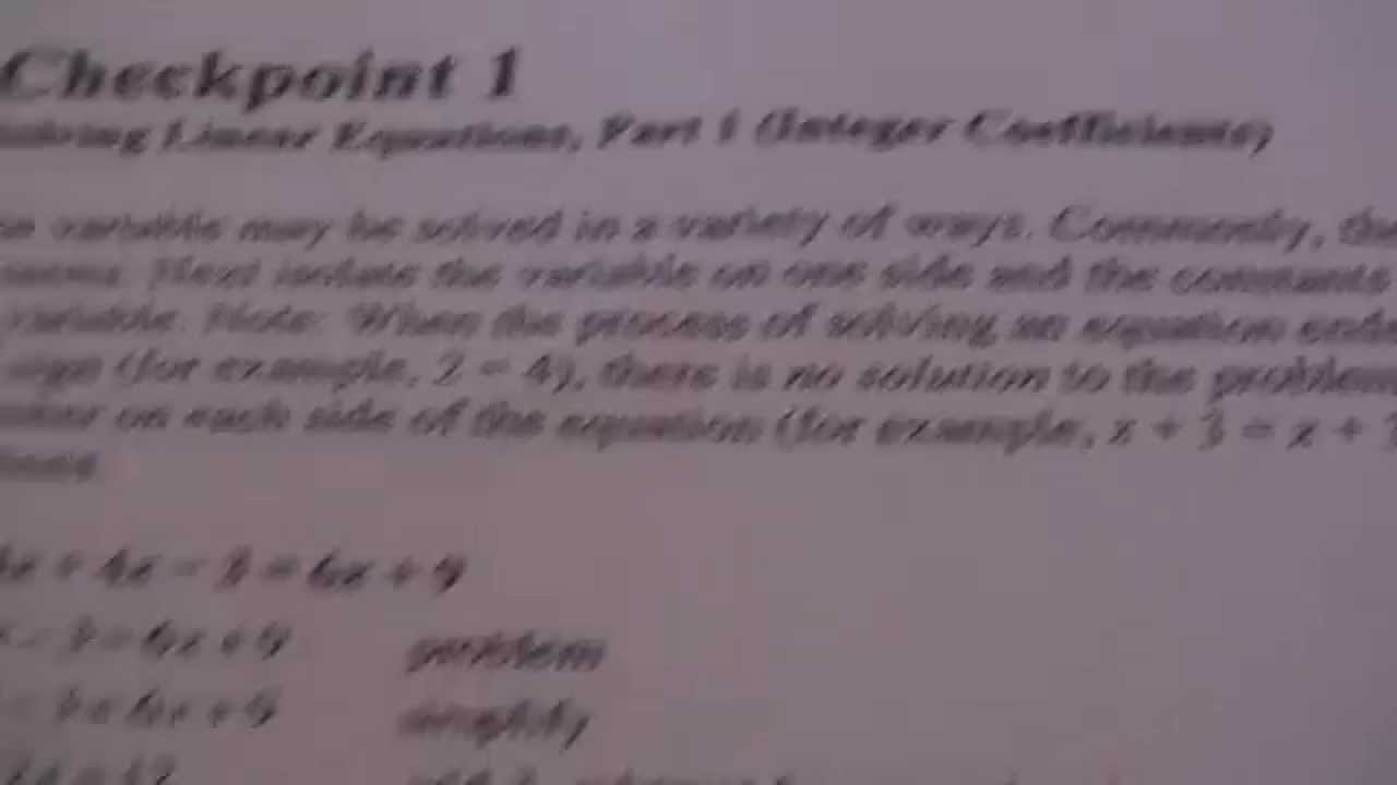 Checkpoint 1 solving linear equations part 1 integer checkpoint 1 solving linear equations part 1 integer coefficients falaconquin