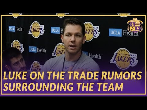Lakers Interview: Luke Talks About The Trade Rumors Surrounding the Team