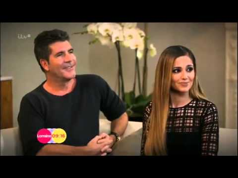Cheryl Cole giving Simon Cowell the cold shoulder during an interview