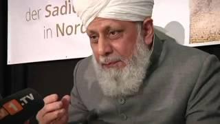 Khalifa of Islam Ahmadiyya lays foundation stone of Sadiq Mosque in Nordhorn, Germany