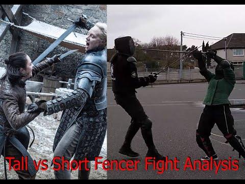 Tall vs Short Fencer Fight Analysis (Jordan vs. Vina)