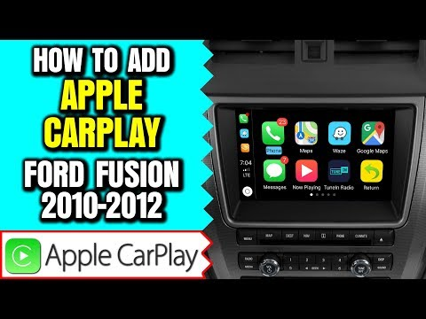 Ford Fusion Apple CarPlay Android Auto 2010-2012 Ford Fusion Sync Navigation HDMI Camera Mirroring