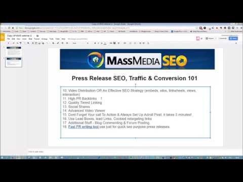 Press Release SEO, Traffic & Conversion 101