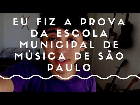Eu fiz a prova da Escola Municipal de Música de São Paulo