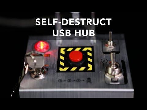Cube-Works Self-Destruct USB 3.0 Hub - Exclusive by ThinkGeek