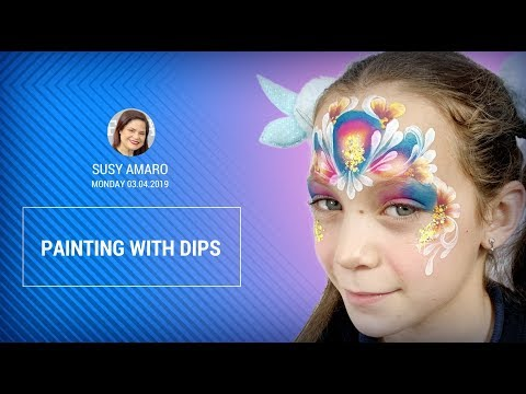 FACE PAINTING SCHOOL FABATV - Susy Amaro - Painting With Dips - TRAILER