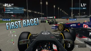 FIRST VIDEO+Bahrain 3 Lap Race+First Time Using Wheel