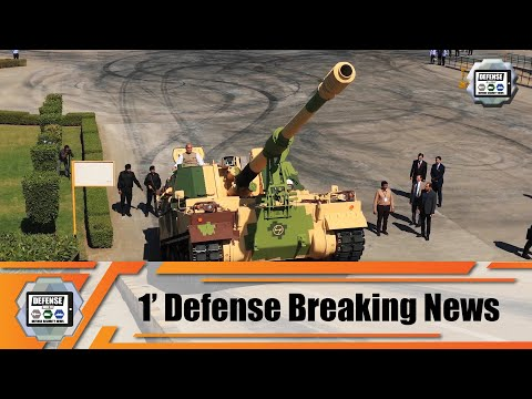 India has manufactured first local-made K9 Vajra 155 mm tracked self-propelled howitzer Indian army