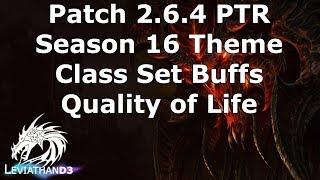 [Diablo 3] Patch 2.6.4 PTR Preview | Season 16 Theme & Class Set Buffs