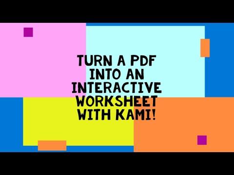 Make an Interactive PDF with Kami!